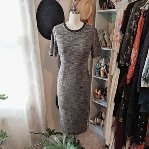 Heather grey jersey midi-dress